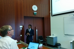 Sandip A. Kadam presenting his PhD thesis