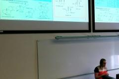 Anu Teearu presenting her PhD thesis
