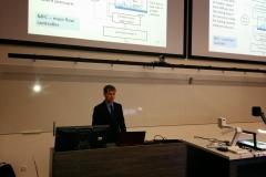 Martin Vilbaste presenting his PhD thesis