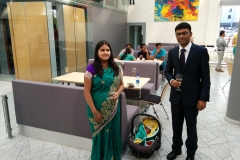 Sandip's family after his PhD defence