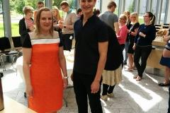 Anu and Kristjan after their PhD defenses