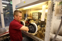Jaan working in a glovebox