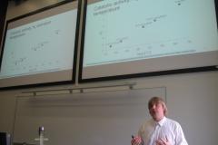Karl Kaupmees presenting his PhD thesis