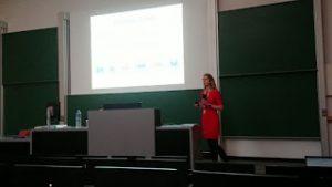 Dr. Anneli Kruve giving her talk at EMSC 2018